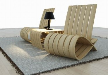 Estilo ultra moderno silla de madera 3d model download for Actual studio muebles playa del carmen