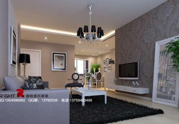 Estilo europeo moderno que viven tono de sala blanca 3d for Salon et salle a manger moderne