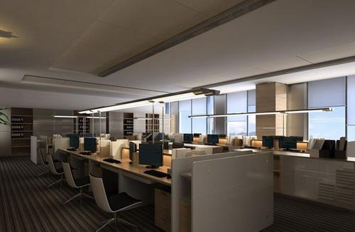 Gran Abierta Oficina Moderno 3d Model Download Free 3d