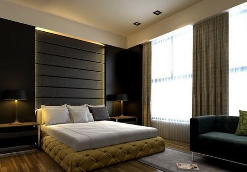color m s oscuro de la habitaci n de estilo moderno 3d model download free 3d models download. Black Bedroom Furniture Sets. Home Design Ideas