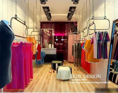 Una peque a tienda de ropa 3d model download free 3d for Decoracion de almacenes de ropa