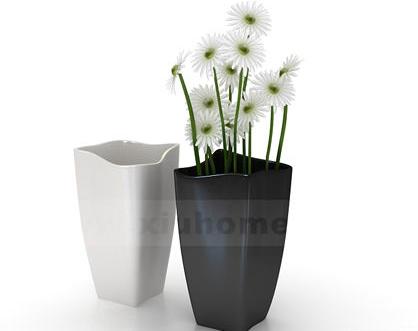 Un modelo de jarrones decorativos 5 juegos 3d model for Jarrones decorativos para jardin