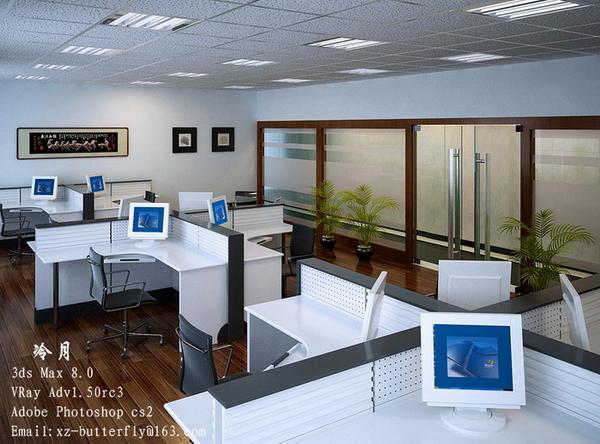 Concisa oficina moderna 3d model download free 3d models for Modelos de oficinas modernas