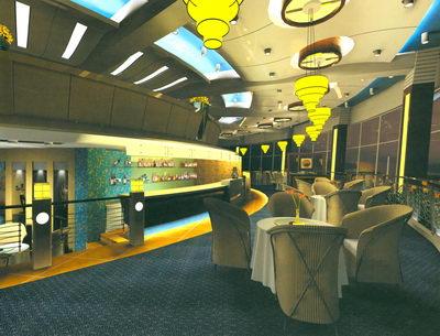 Restaurante de estilo moderno de dise o 3d model download for Disenos de interiores restaurantes