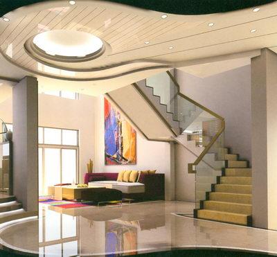 Modelo de una escalera de dos pisos apartamento casa 2 - Modelos de escaleras de interiores de casas ...