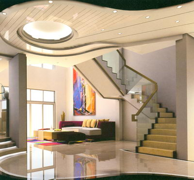 Modelo de una escalera de dos pisos apartamento casa 2 for Diseno de pisos interiores