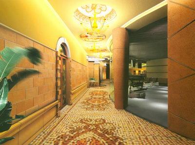 Dise o de un pasillo spa sal n 3d model download free 3d for Diseno pasillos interiores