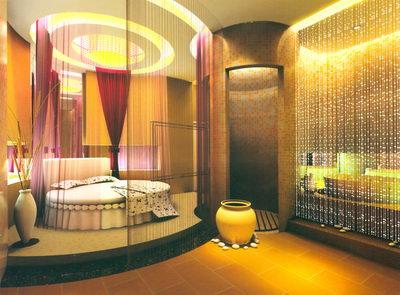 Sauna de lujo en la habitaci n 3d model download free 3d for Egyptian style bedroom ideas