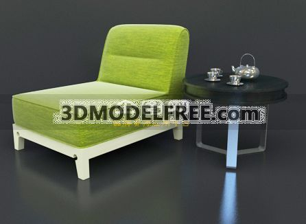 Lounge Chair - Apple Green