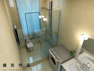 modelo 3d de un moderno cuarto de ba o elegante 3d model On modelos de cuartos de baños modernos