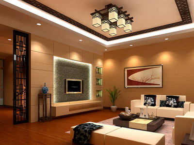 modelo 3d de chino sala de estar de estilo 3d model