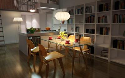 Modelo 3d De Un Moderno Cocinas De Los Restaurantes De