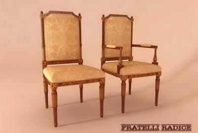 Modelo 3d de la silla de madera tradicionales de 3d model for Modelos de sillas de madera