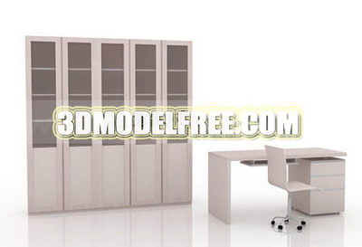 Mobiliario de oficina libre modelos 3d 3d model download for Muebles de oficina 3d model
