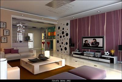 Modelo 3d de una sala de estilo moderno de vida 3d model for Modele de sejour salon