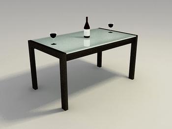 madera cristal cuadro modelo d
