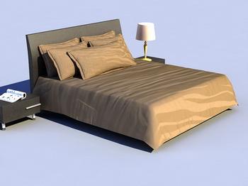 Cama blanda cama modelo 3d de madera retro simmons 3d for Cama 3d autocad