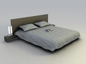Cama modelo 3d de cama blanda y el resumen de una madera for Cama 3d autocad