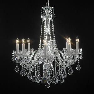 Ara a de cristal moderno de modelo 50 5 3d model download - Lampara de arana de cristal ...