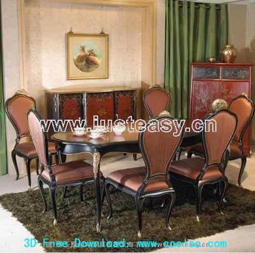 Europea comedor de bajo perfil de mesa y silla de for Modelos de sillas y mesas para comedor