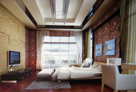Modelo 3d de las habitaciones modernas burgues a for Habitaciones 3d gratis