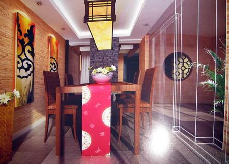 Modelo 3d de hogar restaurante chino de madera incluidos for Restaurante chino jardin