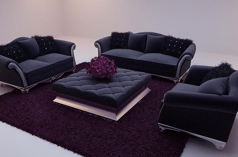nueva barroco sof modelo 3d incluyendo materiales 3d model download free 3d models download. Black Bedroom Furniture Sets. Home Design Ideas