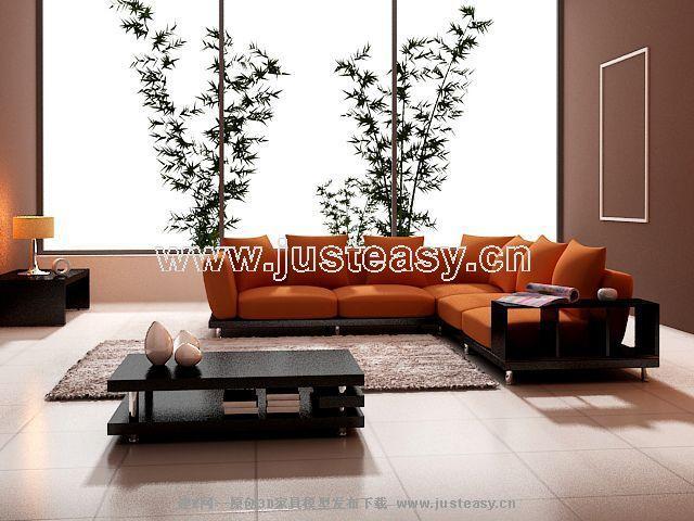 Simple modelo 3d de todo el mobiliario moderno incluidos for Muebles sofas modernos