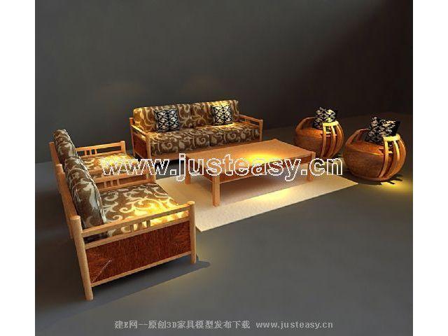 Modelos 3d de los muebles de madera maciza en el sudeste for Muebles de asia