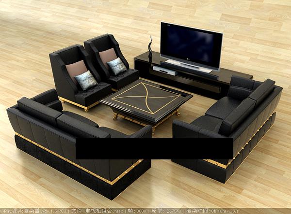 modelo d de la vida sala de muebles incluidos los materiales