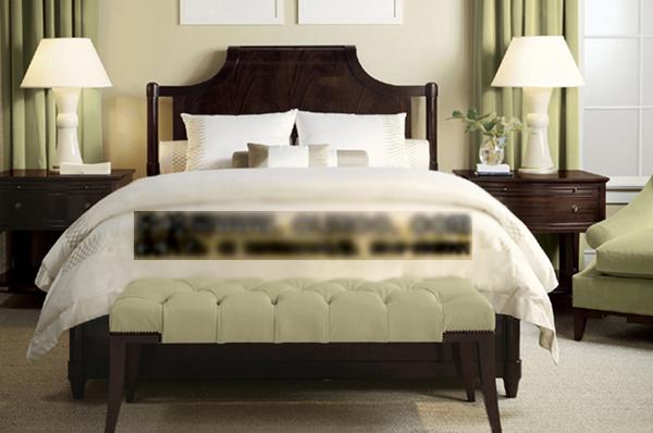 Modelo en 3d de responsables europeos de madera de la cama for Modelos de cama