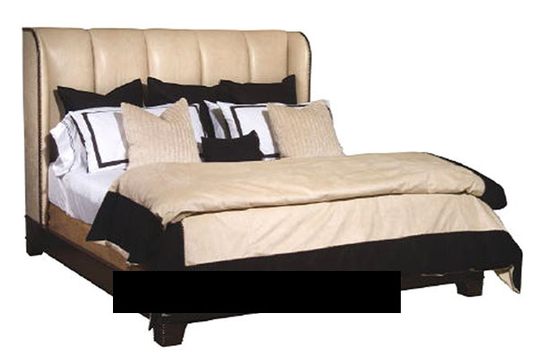Modelo en 3d de la cama europea de cuero marr n for La europea muebles