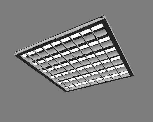 Modelo 3d de la pared del techo 3d model download free 3d - Lamparas fluorescentes de techo ...