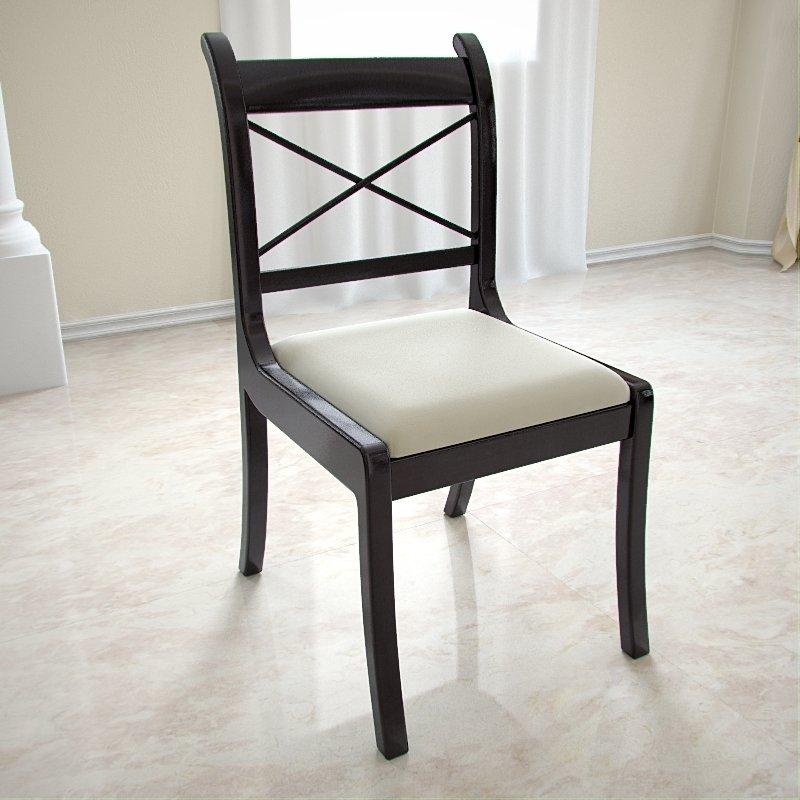 Modelo en 3d de la silla de madera exquisita sala de estar for Muebles sillas madera