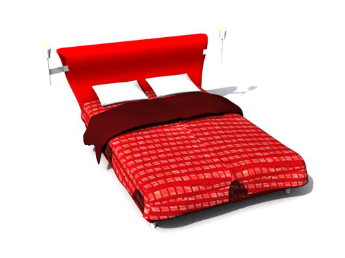 Red cama pa o suave 3d modelo 3d model download free 3d for Cama 3d max