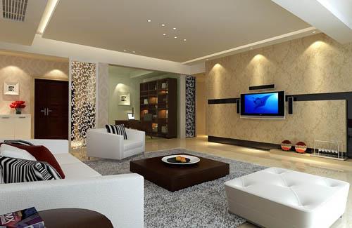 Modelo de la sala de estar caliente y con estilo 3d model - Les beaux salons sejours ...