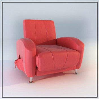 Rosy modelo individual cama de una plaza 3d model download for Sofas una plaza baratos