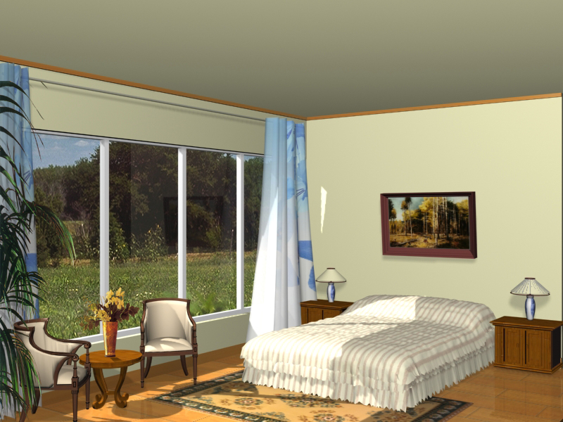 Amplias habitaciones con el modelo 3d 3d model download for Modelos de habitaciones