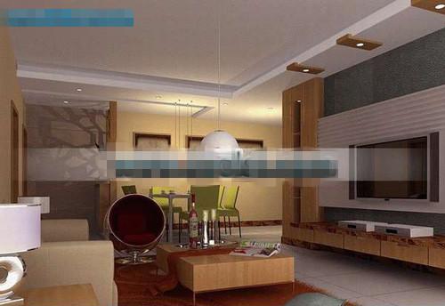 Conjunto de muebles de madera sala de estar con estilo 3d for Sala de estar madera