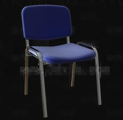 Azul Metal Silla marco simple