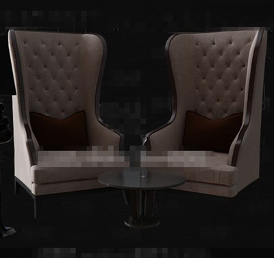 Marr n claro europeos sillones individuales 3d model for Sillones individuales