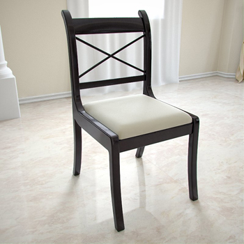 Negra europea de madera sillas de comedor 3d model for Modelos de sillas de metal