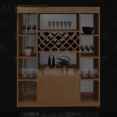 Mueble moderno de madera del vino 3d model download free for Mueble bodega