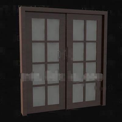 Puertas modelo 3d descarga gratuita 3d model download free for Puertas dobles de madera modernas