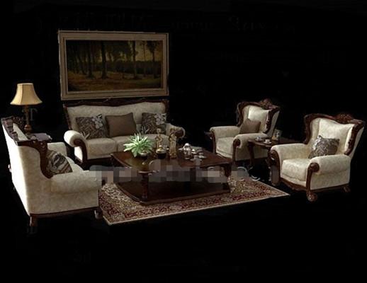Combinaciones de muebles 3d modelo descarga gratuita 3d for Muebles modernos estilo europeo