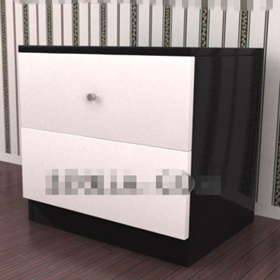 Mueble cama sencilla en blanco y negro 3d model download for Cama sencilla