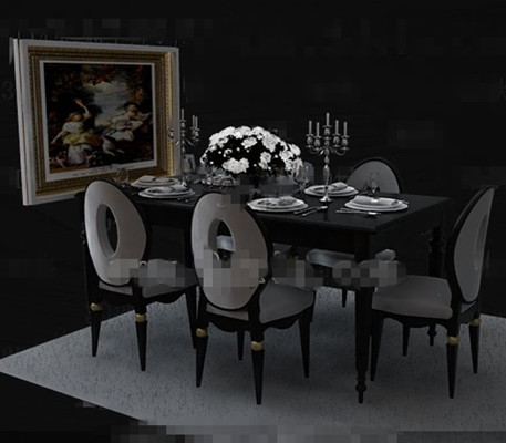 Moderna mesa comedor minimalista gris 3d model download for Comedor moderno minimalista