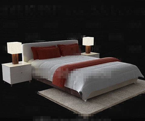 Simple moderna cama blanco