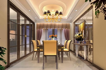 Moderna sala comedor magn fico brillante 3d model for Modelos de sala comedor