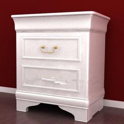 Blanco sencilla estilo europeo del gabinete 3d model for Muebles modernos estilo europeo